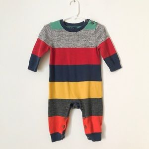 BABY GAP Colorful Striped Sweater Romper